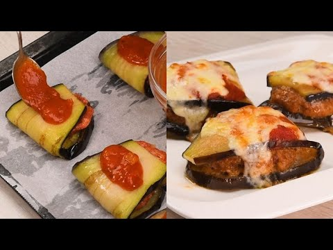 Eggplant rolls quick to prepare and delicious