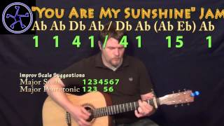 You Are My sunshine Jam in Ab Major - Acoustic Guitar Instrumental