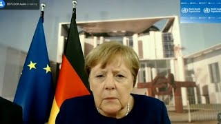 In a very relatable moment during video conference with the who german chancellor angela merkel had to face technical difficulties.subscribe: https://www.y...