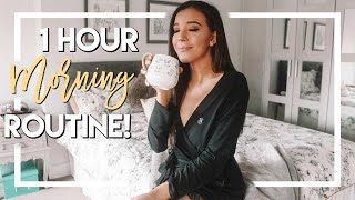 REALISTIC ONE HOUR MORNING ROUTINE FOR WORK 2019 (Vlog Style!)
