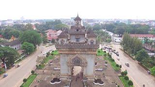 Drone Video in Vientiane Laos (2 minutes Ver.)