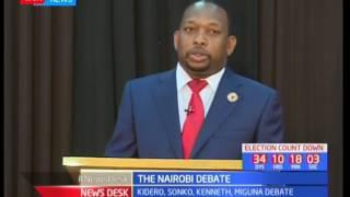 Gubernatorial candidates Miguna Miguna, Peter Kenneth, Mike Sonko and Evans Kidero go head on