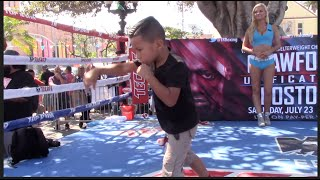 MAD SKILLS!! 6 YEAR OLD MEXICAN SUPER PROTEGE SHOWS HIS SKILLS TO IMPRESS TERENCE CRAWFORD & CROWD