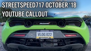 StreetSpeed717 October YouTube Callout *BAD LUCK STEVE*