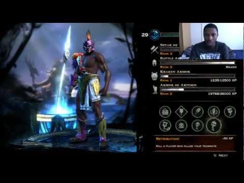 God Of War Ascension - Poseidon Loadout - Capture The Flag - Desert Of Lost Souls - FaceCam!