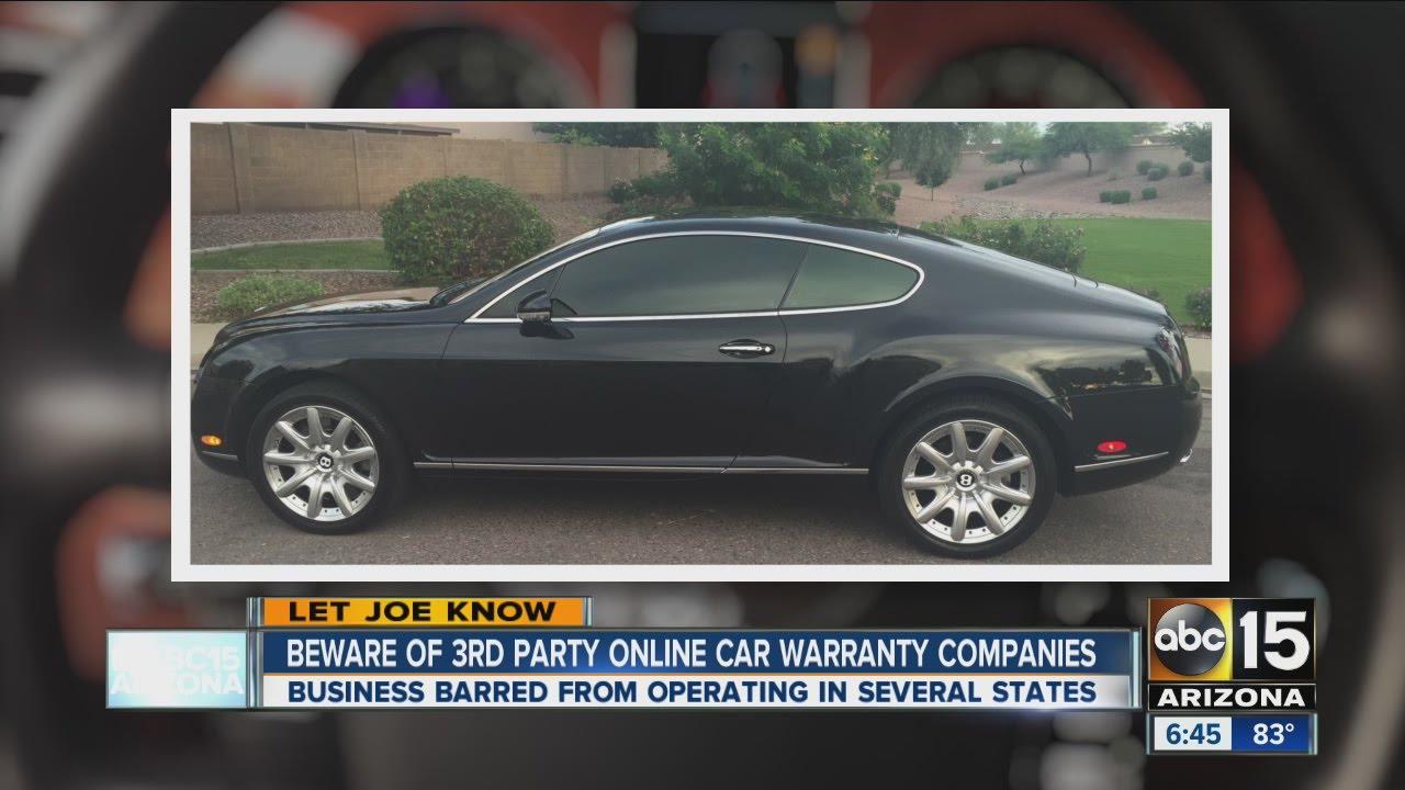 Car Warranty Companies >> Beware Of Third Party Online Car Warranty Companies Youtube