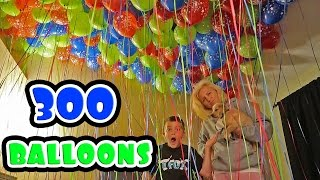 Repeat youtube video BEDROOM FILLED WITH HELIUM BALLOONS! (PRANK)