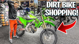 SHOPPING FOR A NEW DIRTBIKE ! ( NEW KFX450 ? )  | BRAAP VLOGS