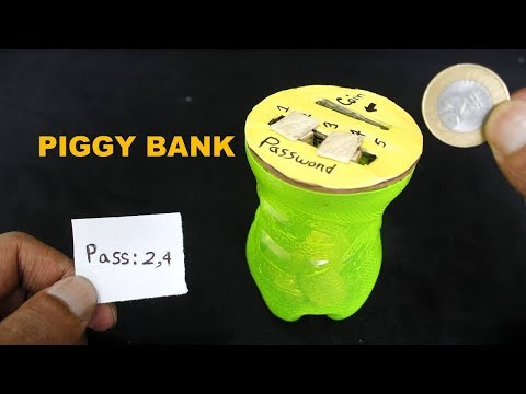 How to Make a Piggy Bank Safe With Combination Lock From Bottle