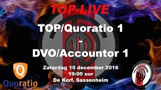 TOP/Quoratio 1 tegen DVO/Accountor 1, zaterdag 10 december 2016