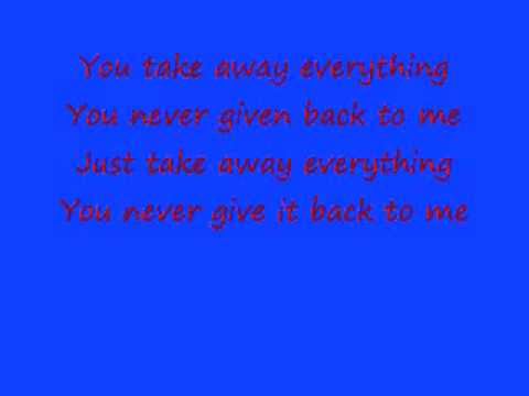 Already gone- Puddle of Mudd lyrics