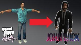 How to Change Tommy Vercetti Model to John Wick In GTA Vice City