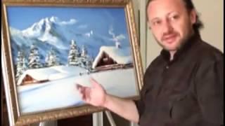 Живопись.Как рисовать снег.уроки рисования.oil painting(Художник Игорь Сахаров обучает по всему миру http://comeon-art.com/ Авторский метода обучения - Картина за 4 часа....., 2011-02-18T20:00:43.000Z)