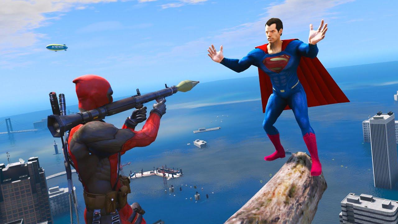 SUPERMAN Water Ragdolls - GTA 5 Jumps/Fails ep.4 (Euphoria Physics)