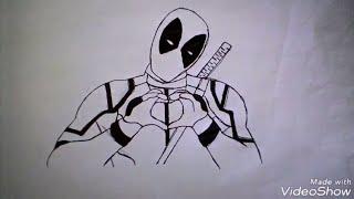 Como Desenhar o Deadpool-Desenhando #6