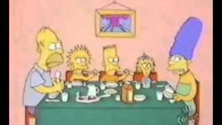 The Simpsons shorts - Dinner Time (Closed captioned)