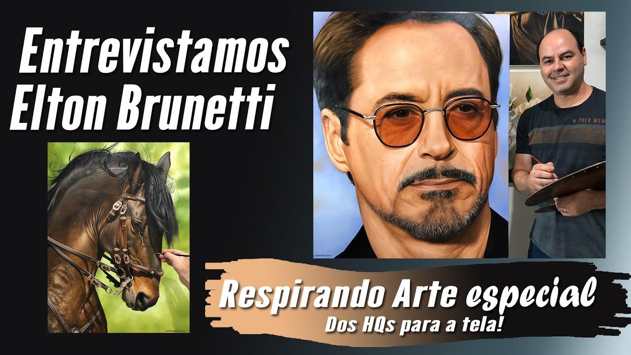 Entrevistamos  ELTON BRUNETTI  #Arte #respirandoarte