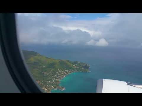 Go Around and Landing at Mahe International Airport Seychelles