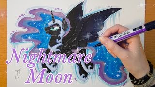 Speed Drawing MLP - Nightmare Moon