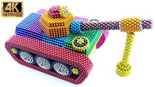 DIY - How To Make Battle Tank With Magnetic Balls (ASMR) | 100% Satisfying | Magic Balls 4K
