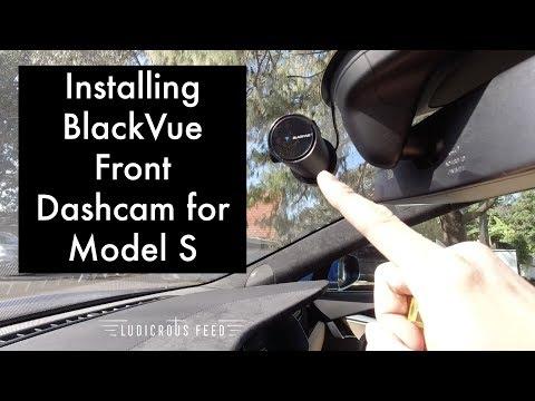 Installing BlackVue Front Dashcam For Tesla Model S (Beginner Level)