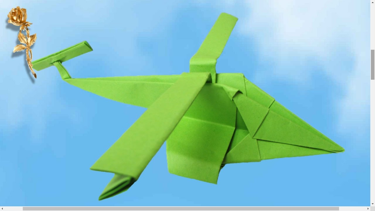 origami facile helicoptere