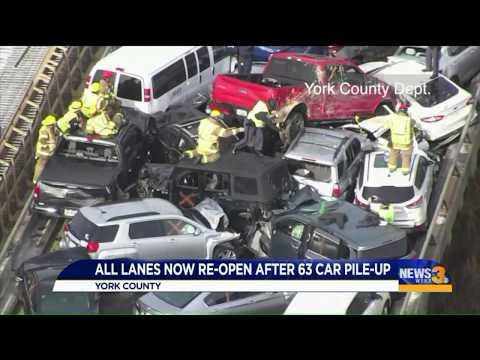Walmart Jeff - 69 vehicles involved in I-64 crash