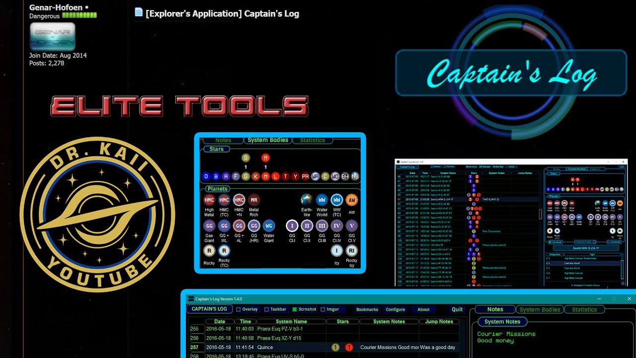Captain's Log - Elite: Dangerous Tools