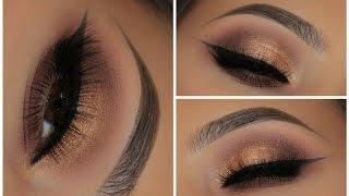 Summer Gold Glowy Makeup Tutorial | Zoeva Cocoa Blend Palette | Amys Makeup Box