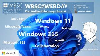 WBSC#WEBDAY Windows 11, Windows 365 und Modern Workplace