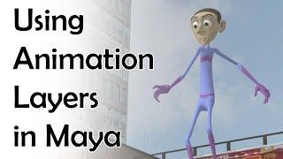 El uso de Capas de Animación en Maya