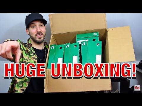 HUGE SNEAKER & CLOTHING UNBOXING FROM PUMA! SUEDES, CAMO, STAMPD, ALIFE & MORE!