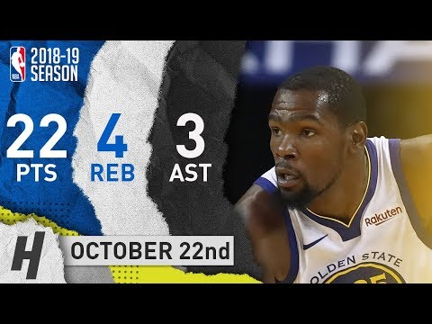 Kevin Durant Full Highlights Warriors vs Suns 2018.10.22 - 22 Pts, 4 Reb, 3 Ast!