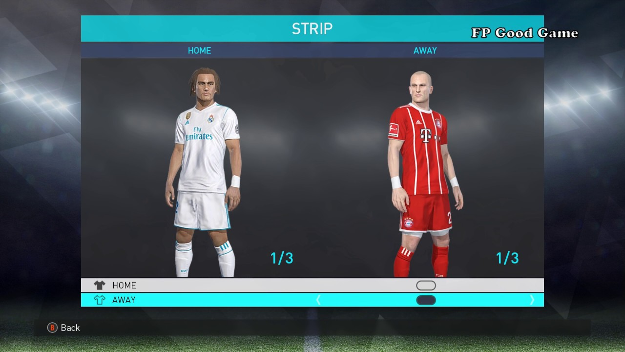 0cb0bc2b96a PES 2018 Option File PC Season 2017/2018 (Kits Bundesliga ,Premier League,  Serie A, La Liga). FP Good Game