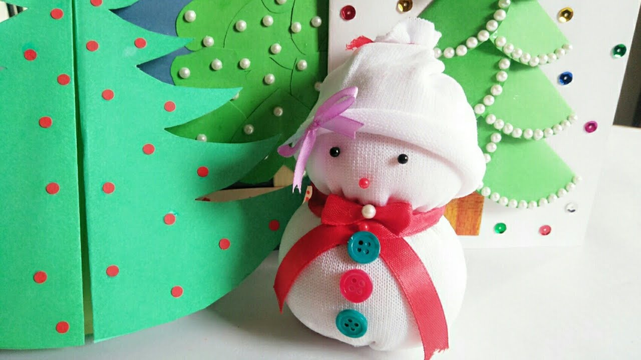 Diy Snowman Christmas Craft Ideas For Kids Making Easy Socks Snowman