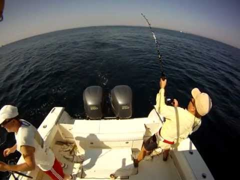 White Marlin Jumps Into Boat!!! MUST SEE!!!