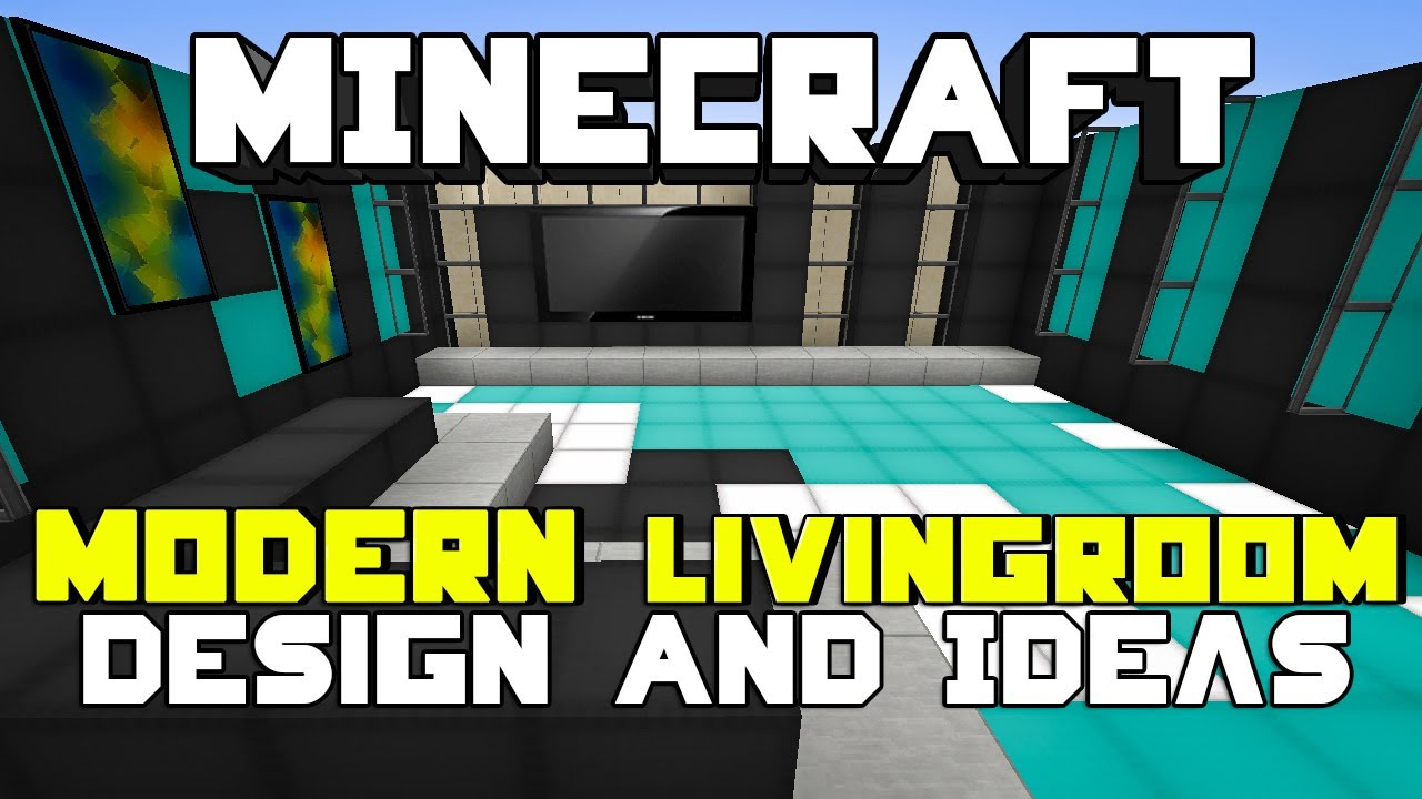 Modern Living Room Minecraft minecraft: modern living room designs & ideas - youtube