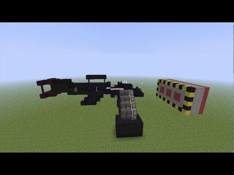 minecraft machine guns