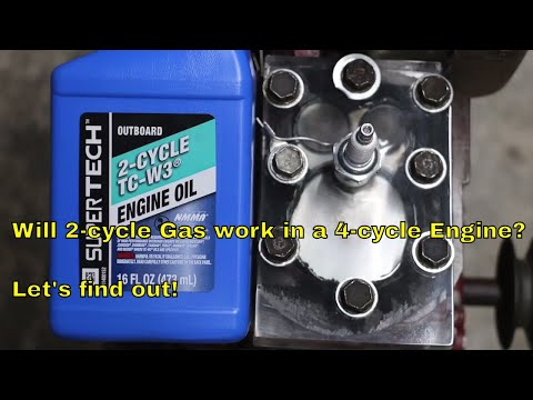 Will 2-Cycle Gas Work in a 4-Cycle Engine?  Let's Find Out!