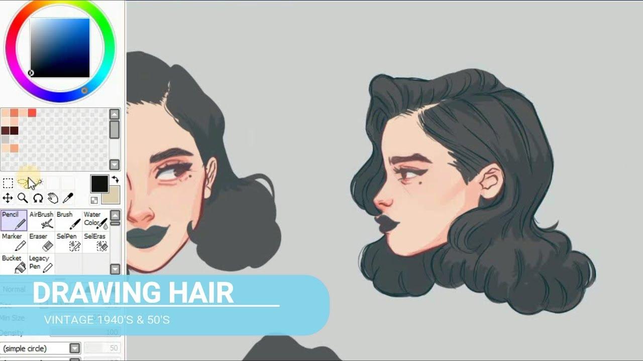 drawing hair pinup hairstyles