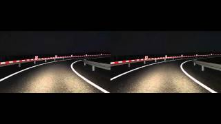 Road animation in 3D technology (stereoscopy)