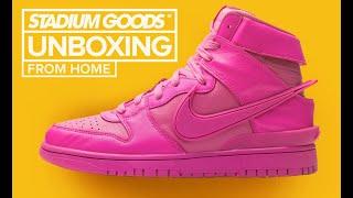 "Ambush x Nike Dunk High ""Active Fuchsia/Lethal Pink"" UNBOXING"