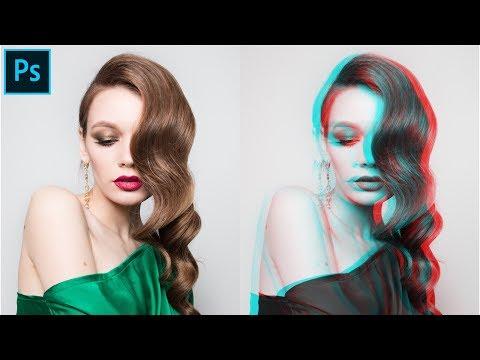 Easy chromatic glitch effect (PHOTOSHOP TUTORIAL) thumbnail