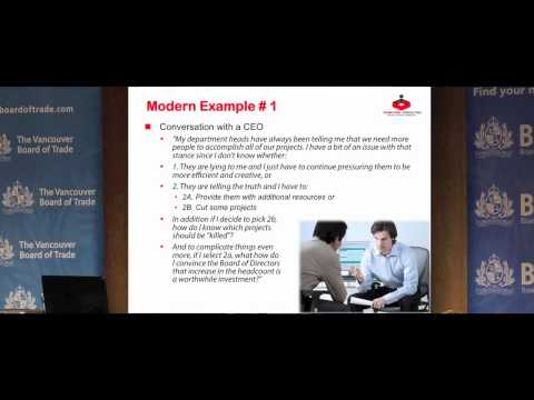 Jamal Moustafaev - Project Portfolio Management Keynote at the Vancouver Board of Trade