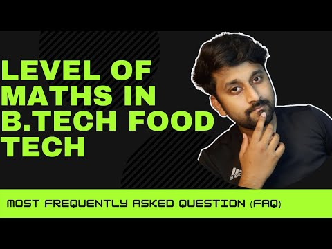 PCB in 12th & want to pursue B.Tech Food Tech then watch this to overcome the fear of maths