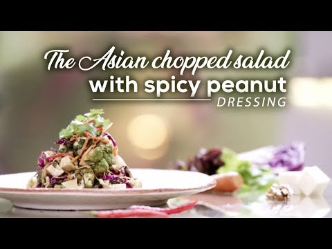 The Asian Chopped Salad With Spicy Peanut Dressing | Recipe | Benefits | Yogic Organic Living