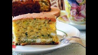 Быстрый заливной пирог с творогом, яйцом и зеленью!