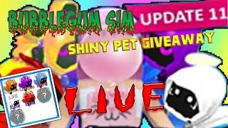 (Roblox) BubbleGumSim! Shiny Pet Giveaway! //2XCandy//Must-Be-Sub//Giveaway// (RoadTo900)