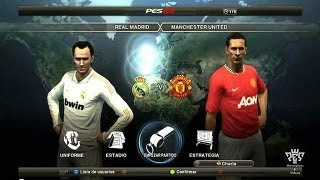 PES 2012 Gameplay Online - Real Madrid vs Manchester United (1vs3)