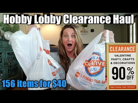 HUGE Hobby Lobby Clearance Haul 🛍 Over $400 savings 😮 Look what I bought